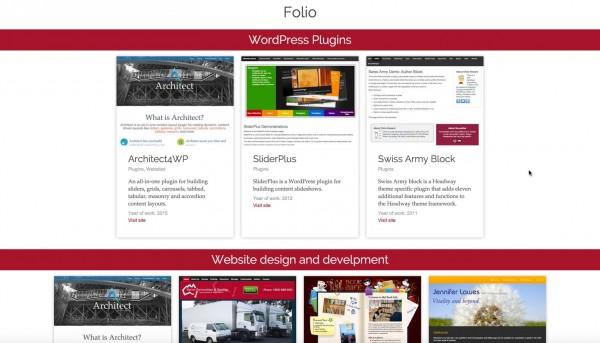 Architect Showcases custom content type